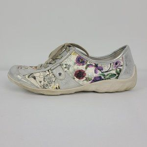 Remonte Flower Print Lace Up Sneakers Size 9